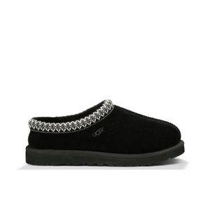 UGG Women's Tasman Black Suede Leather Slippers